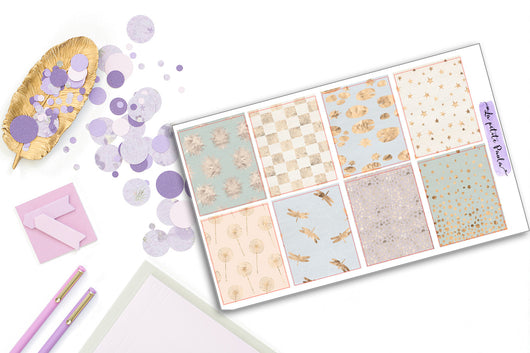 8 Pastel Foil Backgrounds - S108