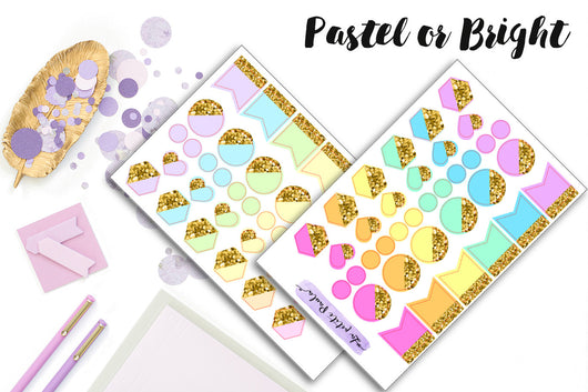 Functional icons with glitter - S166