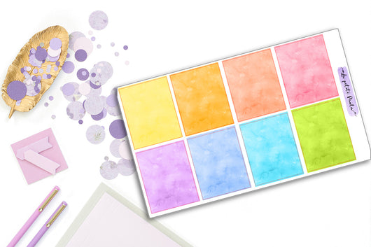 8 Watercolor Rainbow Backgrounds - S171