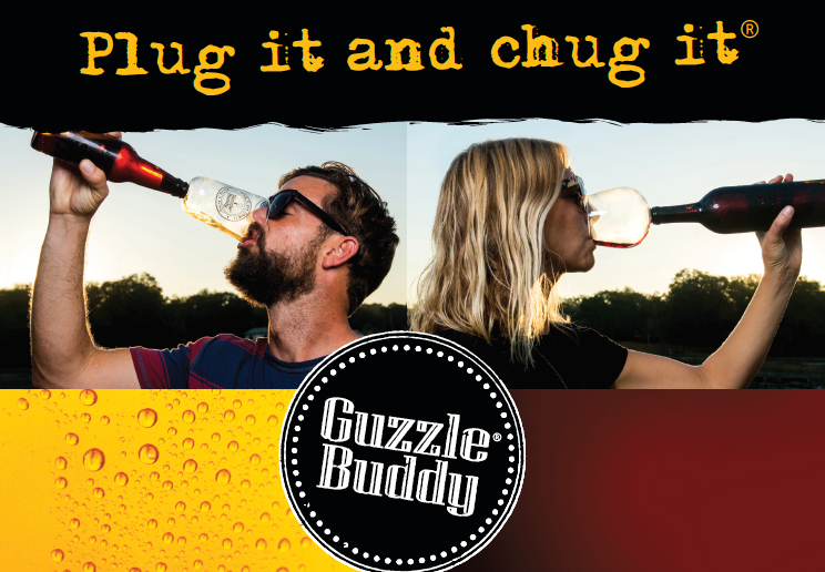 Guzzle Buddy | It Turns Your Bottle of Wine Into Your Wine Glass
