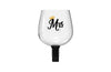 'Mrs.' Wine Bottle Glass