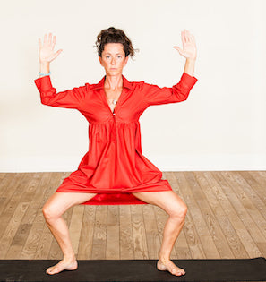 red 100% cotton dress, grace a toi dress, yoga dress, root chakra dress, made in USA, made in LA