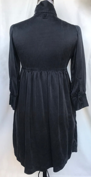 Elegant Black Charmeuse Dress
