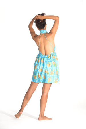 Backless Summer grace a toi dress, LA Made, USA Made, Fun Dress, 100% Cotton dressdressdress.com