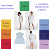 Short-Sleeved grâce à toi dress Chakra Activation Option