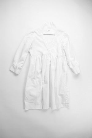 White Linen Fun Natal Office-Friendly American Made dressdressdress.com grâce à toi dress