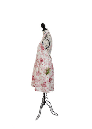 To Celebrate, A Red on White Toile Print Dress: the Spring/Summer Version