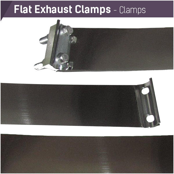 Flat Exhaust Clamps