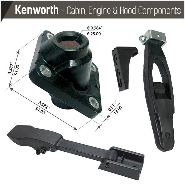 Kenworth Cabin, Engine & Hood Components