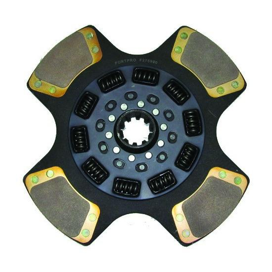 15 x 1/2in Clutch Disc With 2x10in Spline & 10 Springs - Front