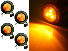 2.5 inch Round Marker Light 4 LED - Amber - 4Pcs - | F235169