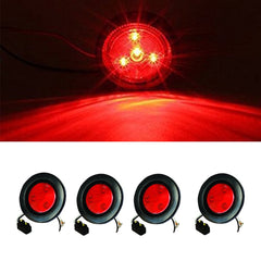 2.5 inch Round Marker Light 4 LED - Red - 4Pcs - | F235159