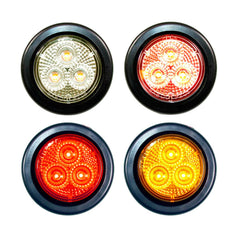 2 inch Round Marker Light 3 LED with Grommet