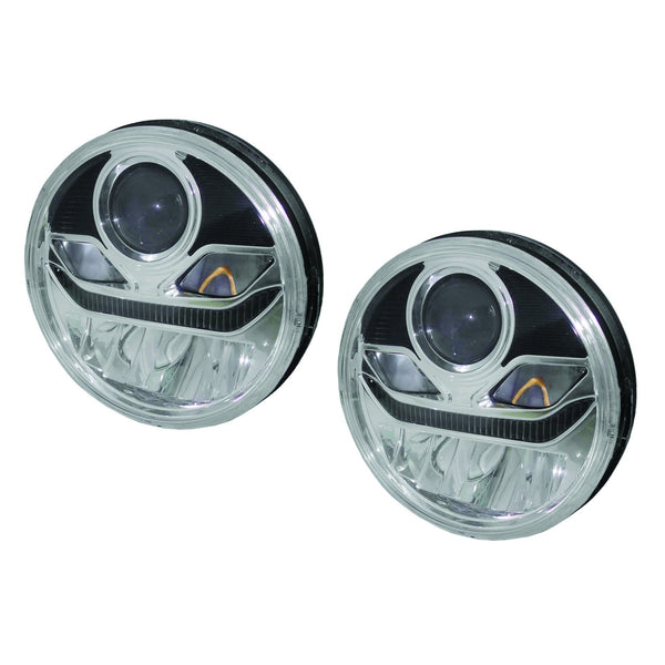 "7"" Full LED Headlight High / Low Beams With Reflector and projector for low beam"