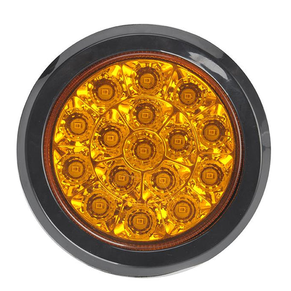 "4"" Round - 16 LED Chromed Reflector Sealed"