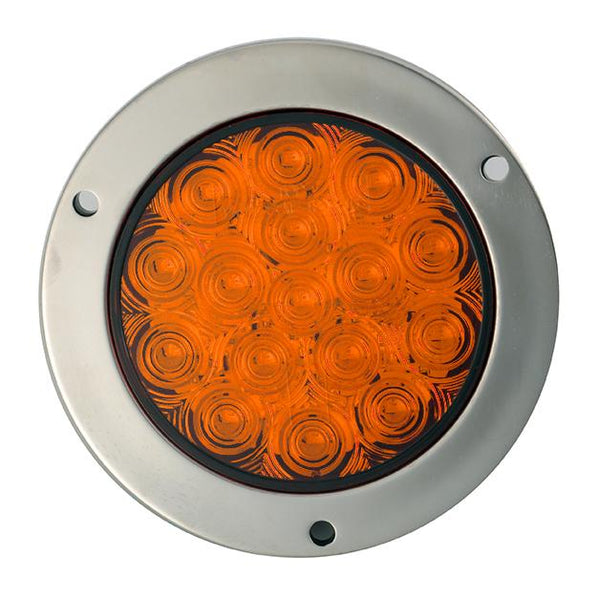 "4"" Round - 16 LED With Steel Flange Mounts"
