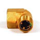 "Fortpro 90 Degree In Line SC-3 Single Check Valve 1/2"" NPT Ports, Femal Inlet, Male Oulet 