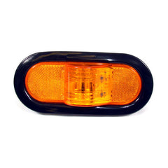 Amber Oval Mid-Turn Led Light