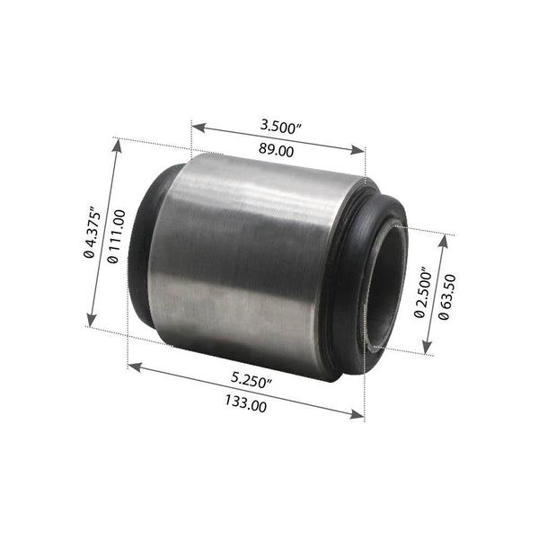 Beam End Bushing For Hendrickson Rear: RU/RUE, U/UE 340/380, SR 340  - (6969000)