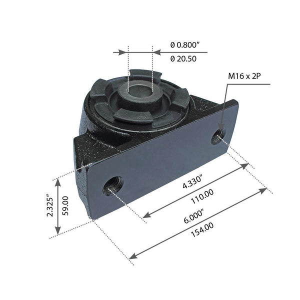 Cabin Mount Assembly For Mack CH - (30QS3373M)