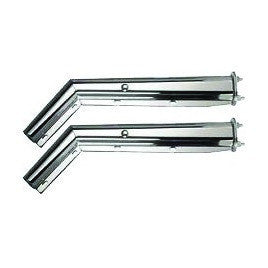 Chrome Mud Flap Hanger 45 Degree Angle - 2-1/2 Spacing Between Bolt