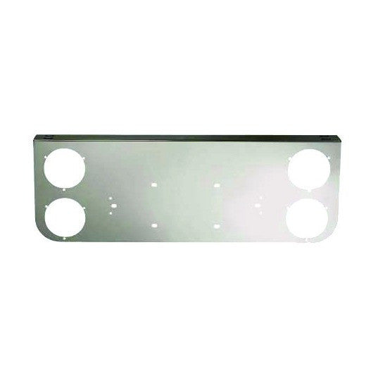 Chrome Rear Light Panel With 4 Round Cutouts
