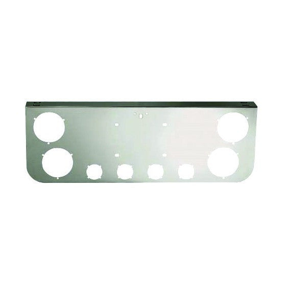 Chrome Rear Light Panel With 8 Round Cutouts