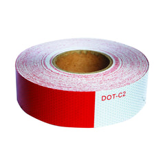 DOT-C2 Reflective Conspicuity Tape 2 inch x 150' Red & White for Truck and Trailers