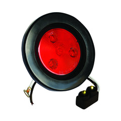2.5 inch Round Marker Light 4 LED - Red - 2Pcs - | F235159