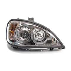 Freightliner Columbia Projector Headlight Chrome Housing with LED Light Bar