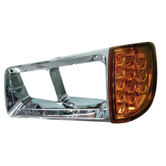 Freightliner FLD Headlight Turn Signal Assembly & Bezel