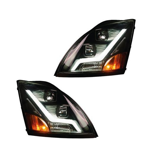 Volvo VNL Black Housing Headlights