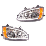 Kenworth T660 Chrome Projector Headlights w/LED Bar & Signal for 2008-2016