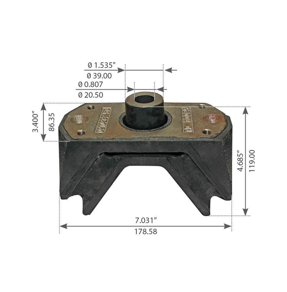 Motor Mount For International Navistar 5000 Series N14 - (16647929C4)