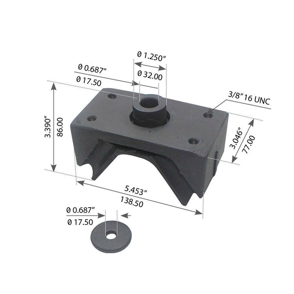 Motor Mount For International Navistar/IHC 6 CYL 360/408/466 Series Rear - (1664728C1)