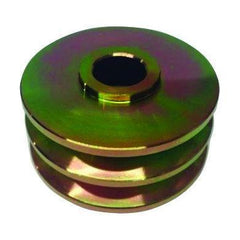 Fortpro F235389 Pulley 3 1/2 inches (89 mm) OD Double V Groove Replacement for Kenworth, Mack, Peterbilt Trucks with Cummins 6 Cyl. Diesel Engine