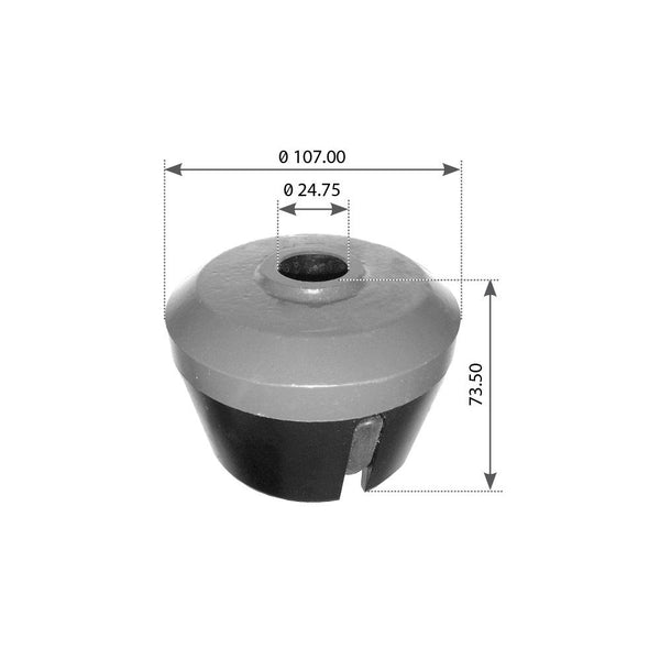 Rear Bushing For Volvo B/T/FH12/FH16 & Mack M Ride - (20466804)