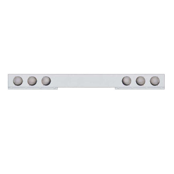 Rear Light Bar With Round Cut Outs, Stainless Steel