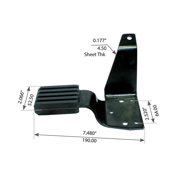Right Hood Bracket For Mack CH/CL - (140QM433M)