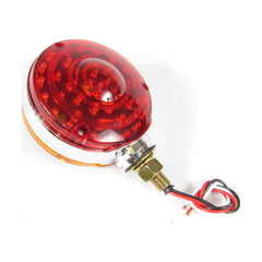 Round Lent Turn Signal Light  40 Red + 48 Amber LED