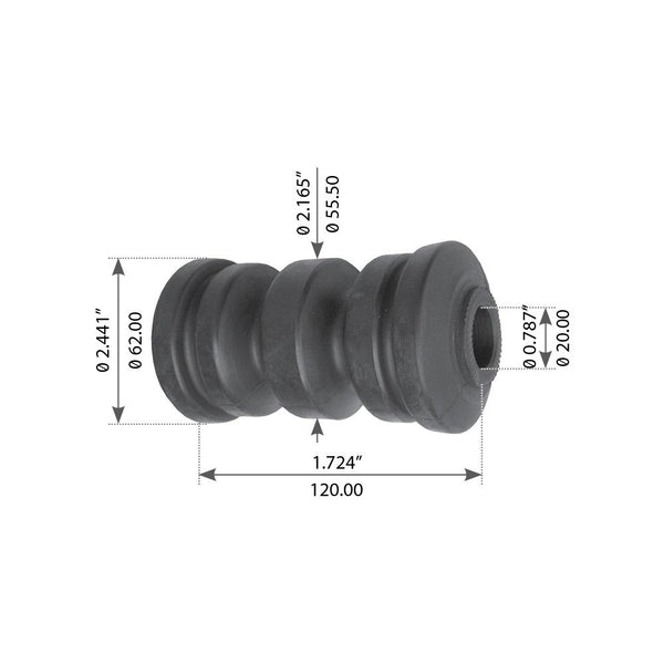 Spring Eye Bushing For Volvo/White F6/F7/FE6/FE7/FL616-619 - (3027227)