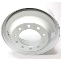 "Steel Wheel 24.5"" x 8.25""  10 Bolts - Hub Pilot - 2 Holes - WHITE"