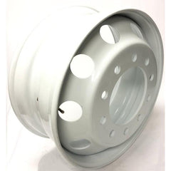 "Steel Wheel 22.5"" x 9""  10 Bolts - Hub Pilot - 10 Holes - WHITE"