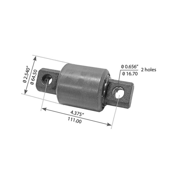 Rear Torque Arm Bushing For Peterbilt Air Leaf - (44694000)