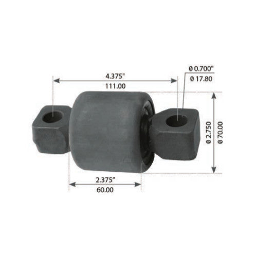 Rear Torque Rod Bushing For Kenworth AG200/230/400/460 - (836940)