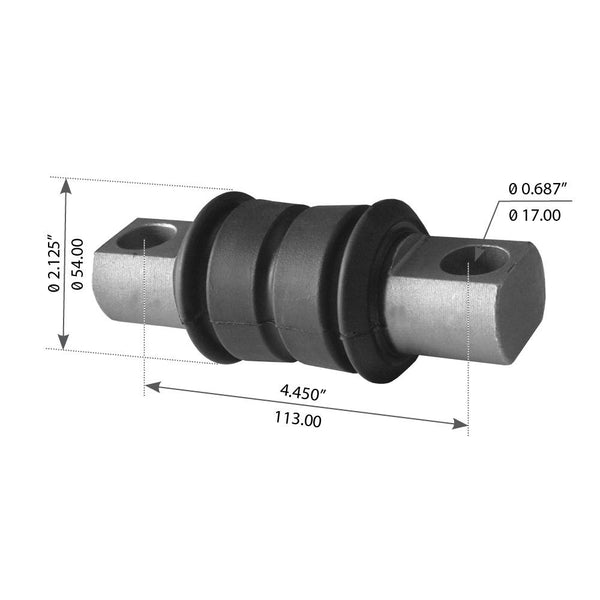 Torque Rod Bushing For Volvo VN & VT Rear Spring - (1190030)