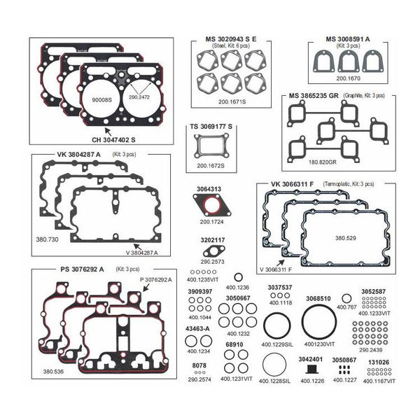 Upper Gasket Set For Cummins N14 Engine