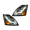 Volvo VN/VNL Chrome Housing Headlight with light bar