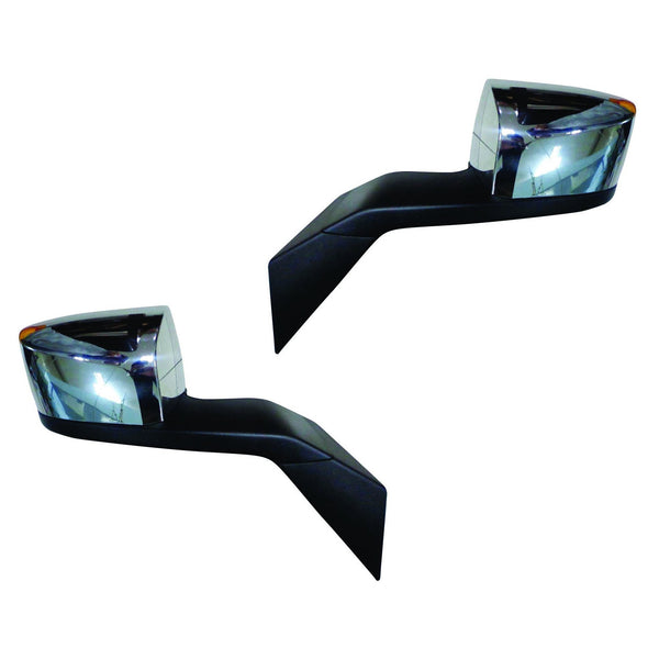 Hood Mirror For Volvo Vn Vnl with Mounting Plates - 82361058 82361059