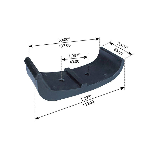 Wear Pad For Freightliner MB/FL Series Front & Rear - (6803250009)